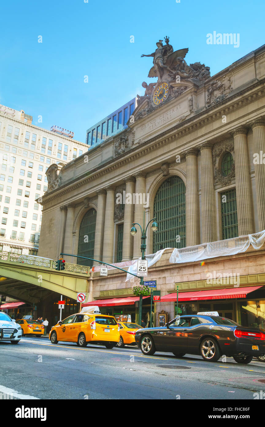 NEW YORK - 05 SEPTEMBRE : Grand Central Terminal ancienne entrée le 5 septembre 2015 à New York. Photo Stock