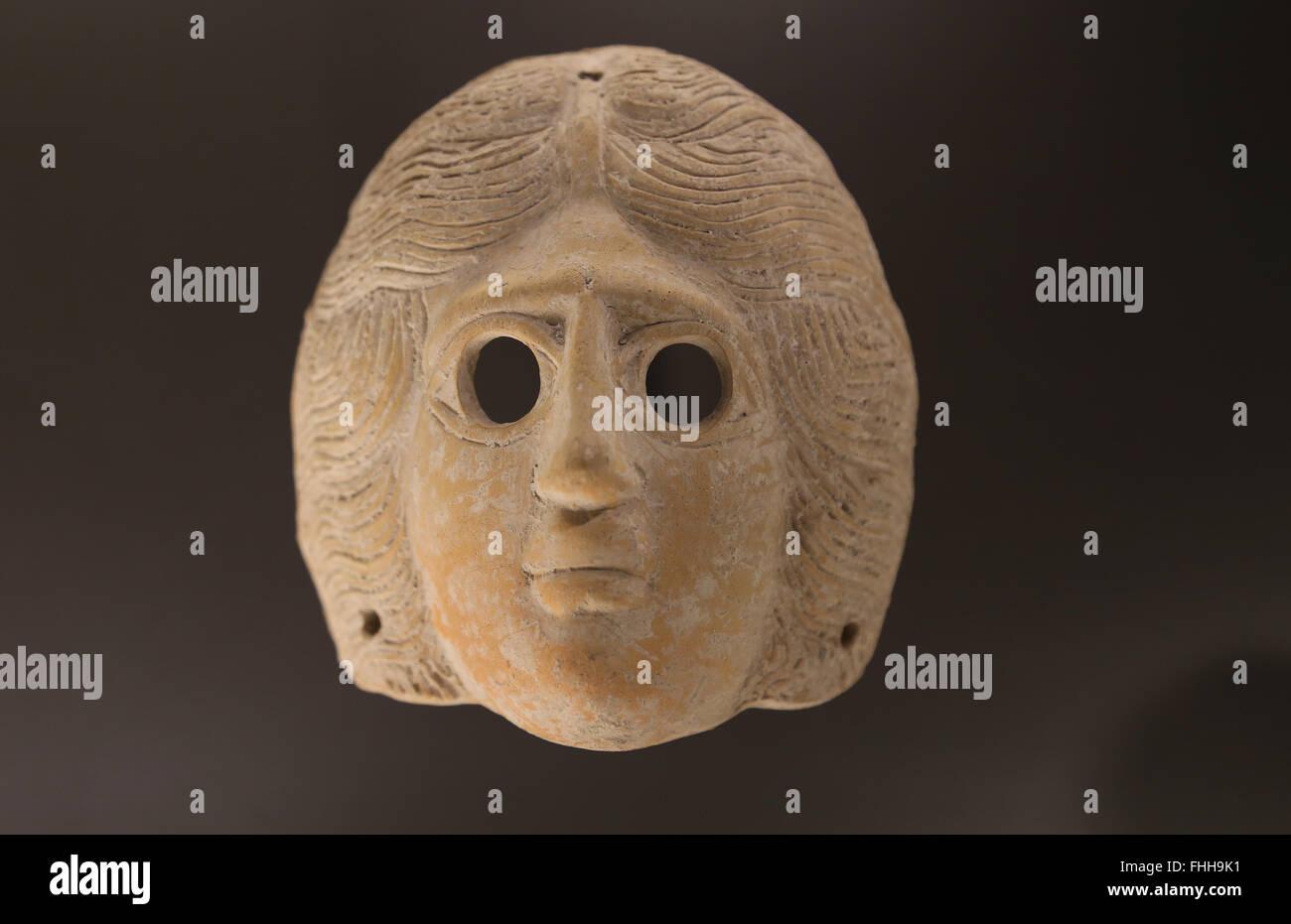 Les pratiques funéraires. Provinces de l'Est de l'Empire romain. Près de l'Est. Masque en Photo Stock