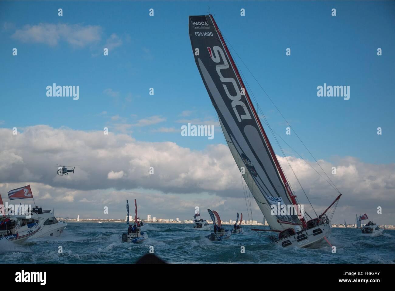 YACHT RACE TOURNER LA MARÉE; EN SOLITAIRE (2013) Photo Stock