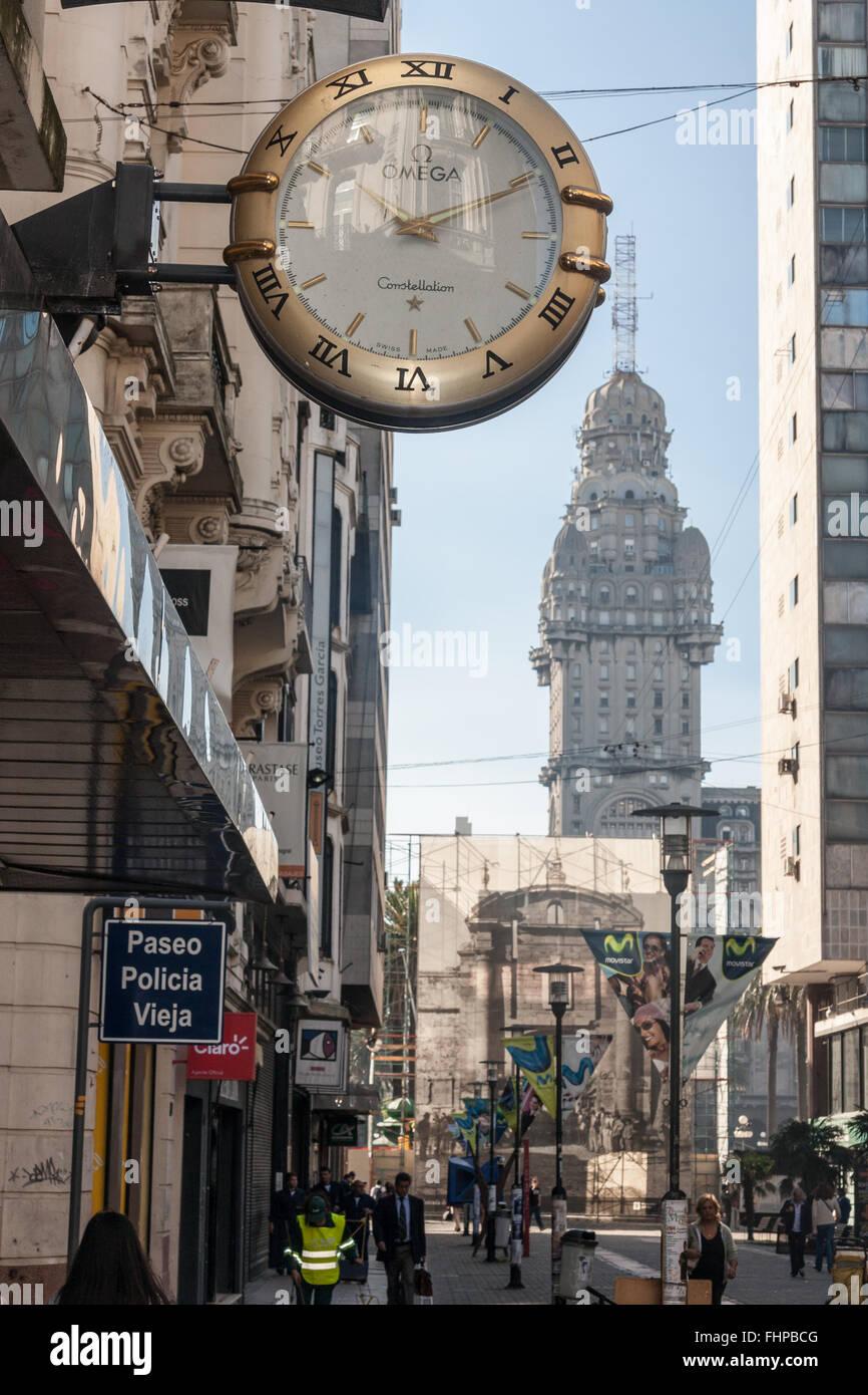 Palacio Salvo Montevideo Uruguay Photo Stock