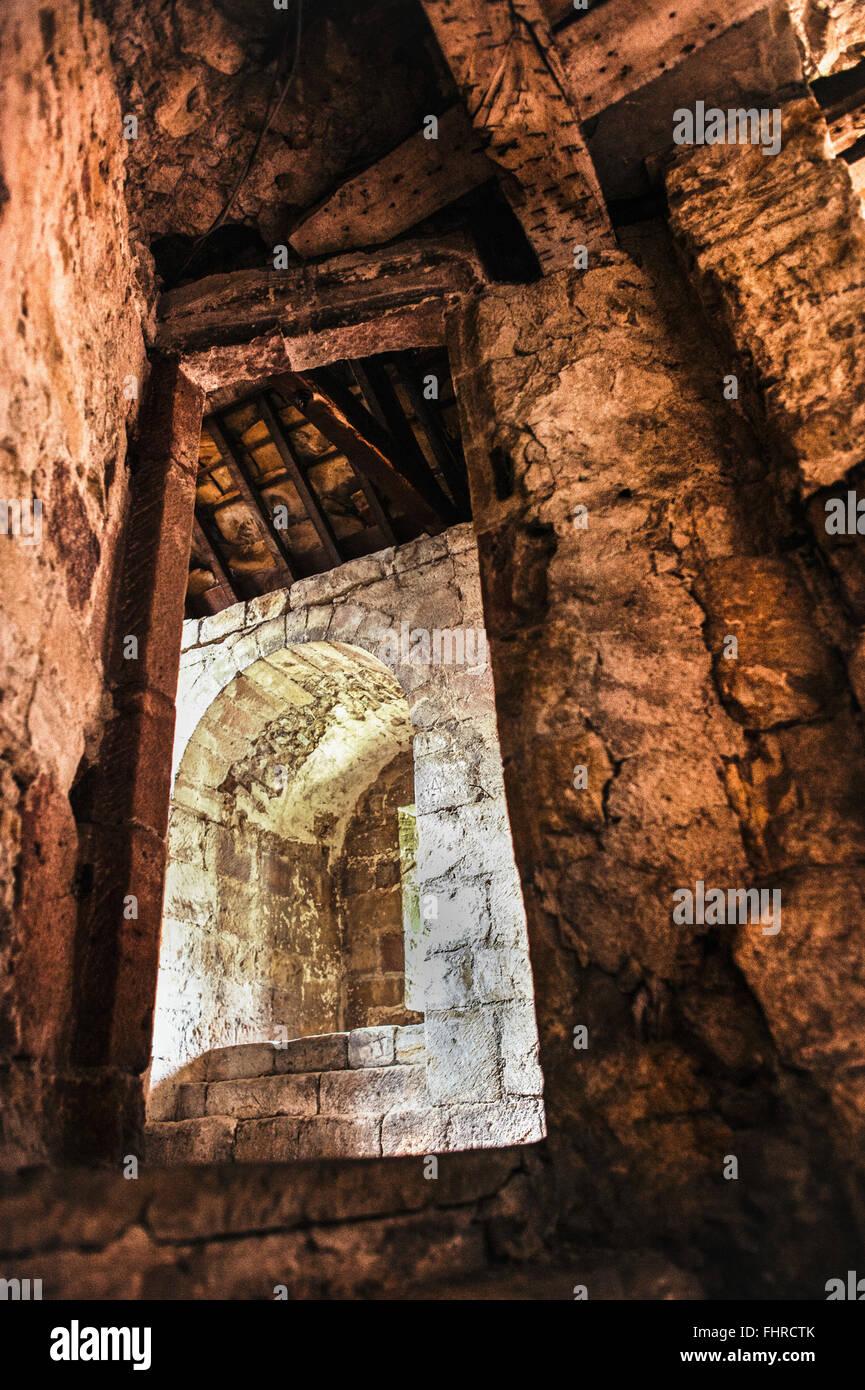 Porte des ruines anciennes Photo Stock