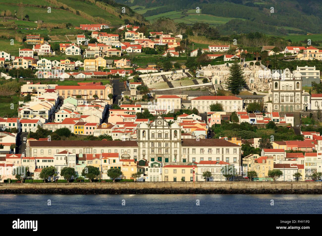 Horta, île de Faial, Açores, Portugal, Europe Photo Stock