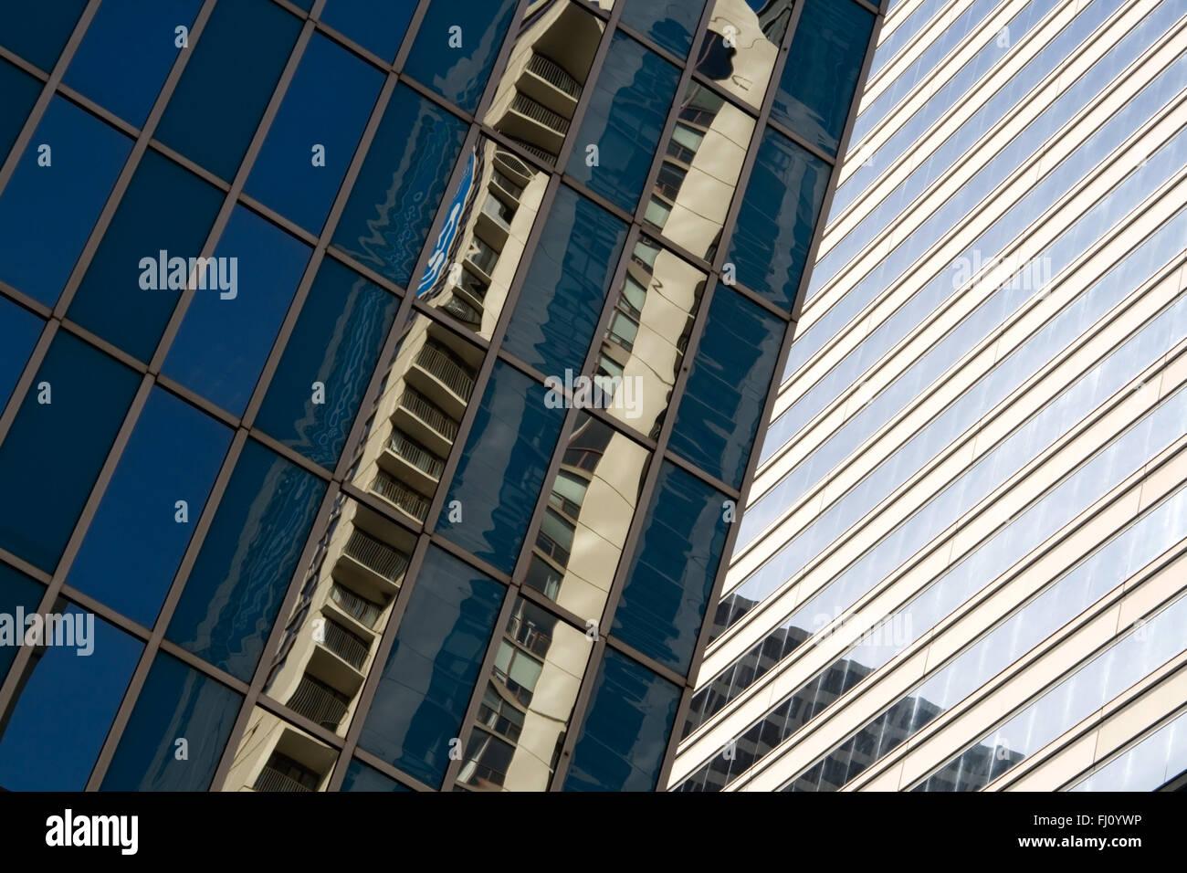 Réflexion abstraite de gratte-ciel de Chicago Photo Stock