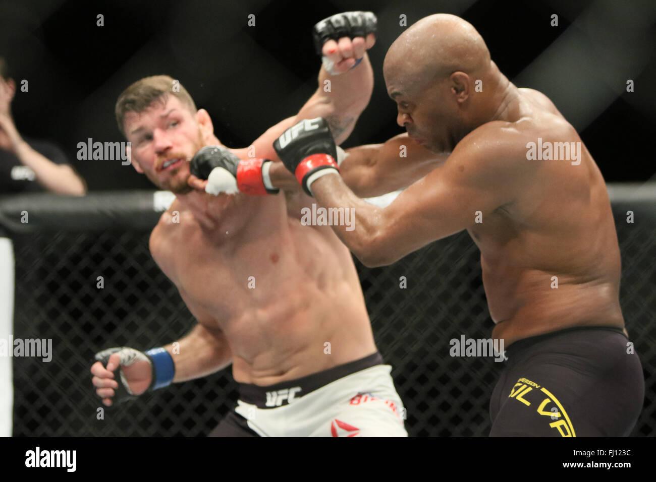 Londres, Royaume-Uni. Feb 27, 2016. L'UFC Fight Night Bisping vs Silva à l'O2, London Crédit: Dan Cooke/Alamy Live News Banque D'Images