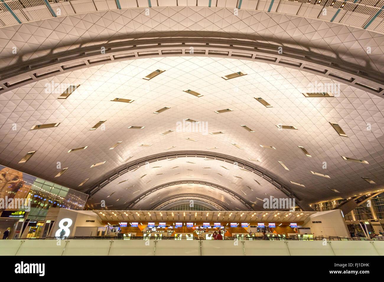 L'Aéroport International Hamad à Doha Banque D'Images