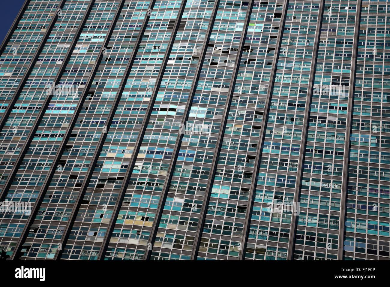 Bâtiment coloré dans le centre de São Paulo , Brésil Photo Stock