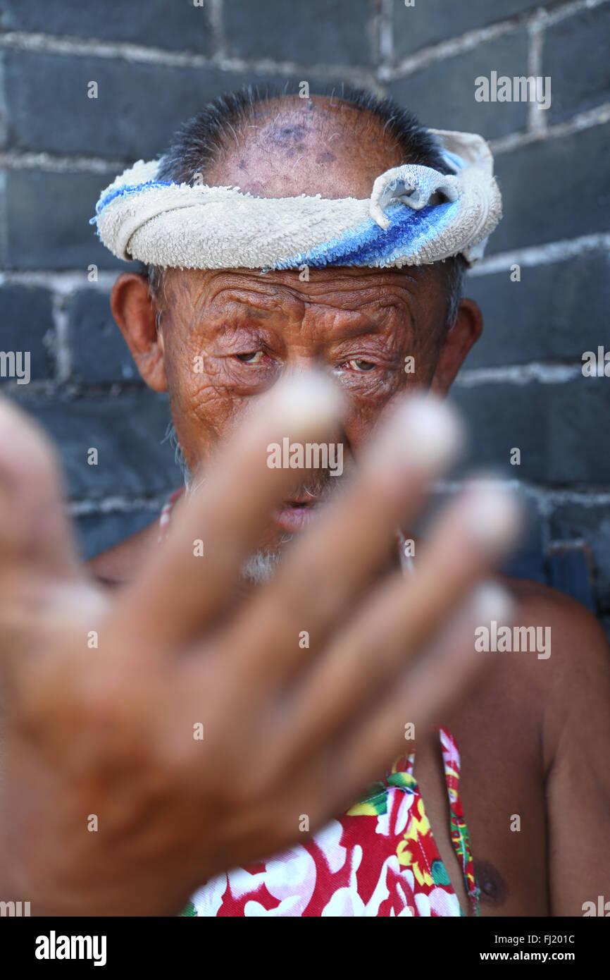 Portrait de la Chine les yeux des gens face Photo Stock