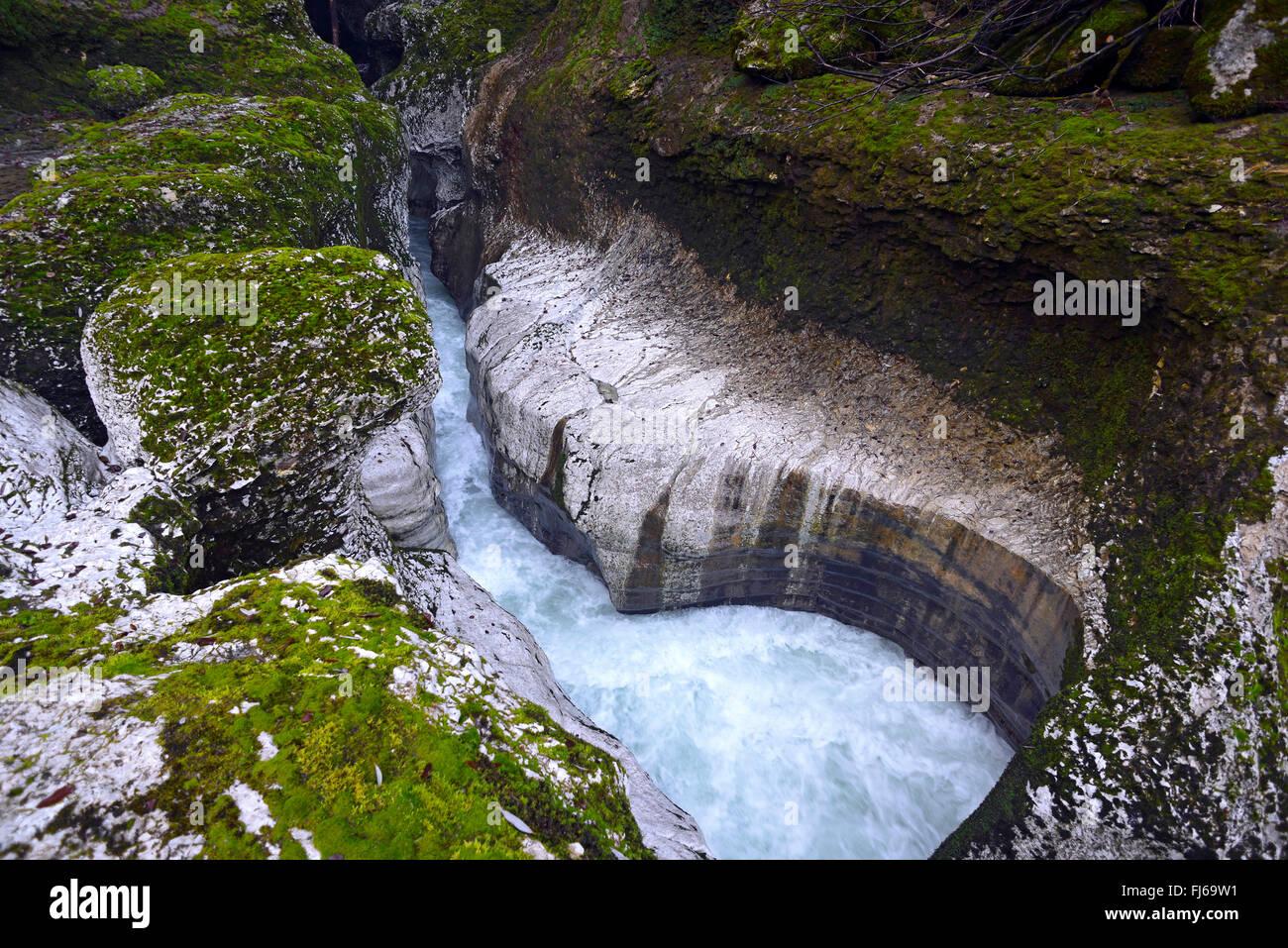 Canyon de la rivière du Fier près d'Annecy, Haute-Savoie , France Photo Stock