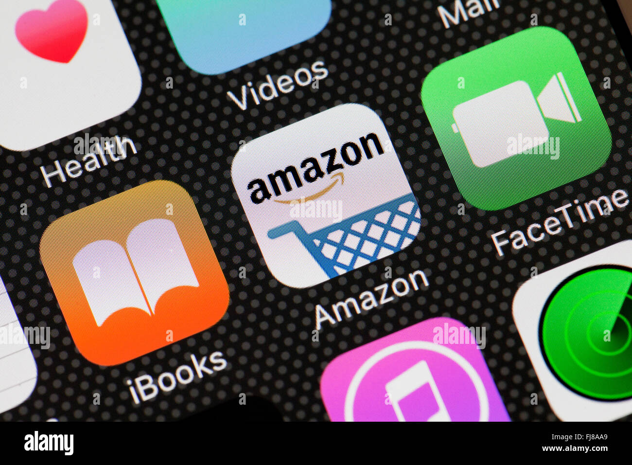 Amazon app sur iPhone - USA Photo Stock