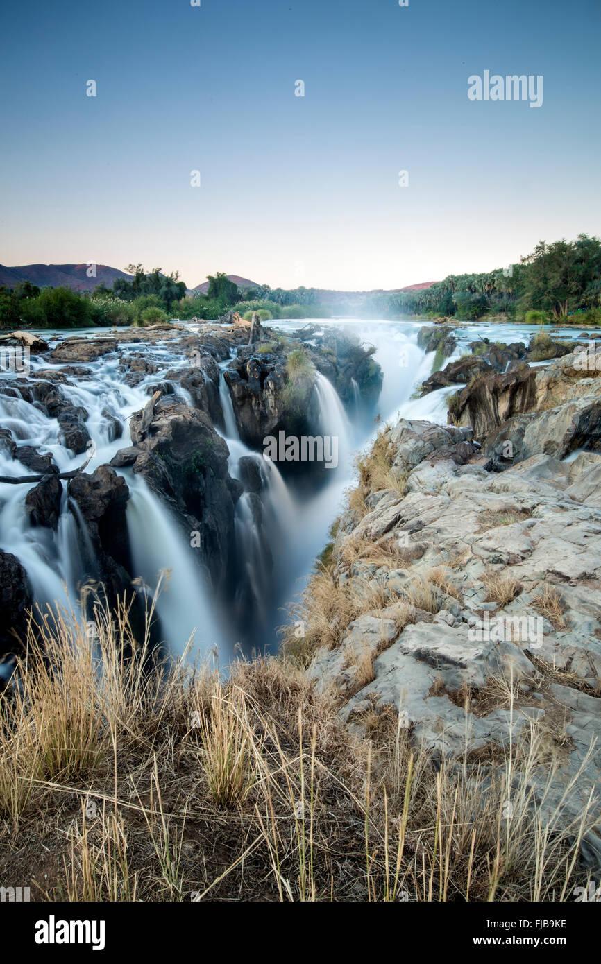 Epupa Falls, la Namibie. Banque D'Images