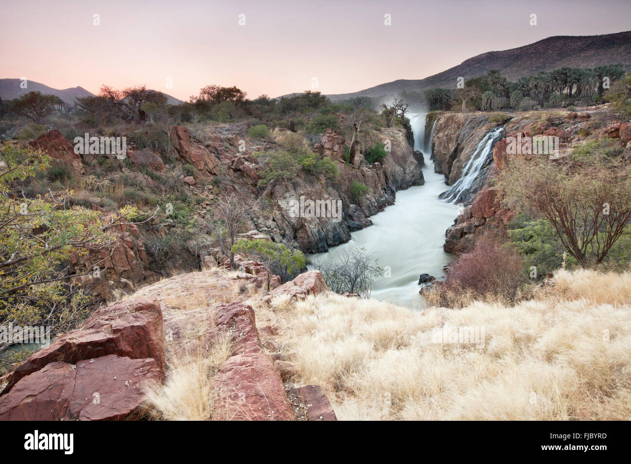 Epupa Falls, la Namibie. Photo Stock