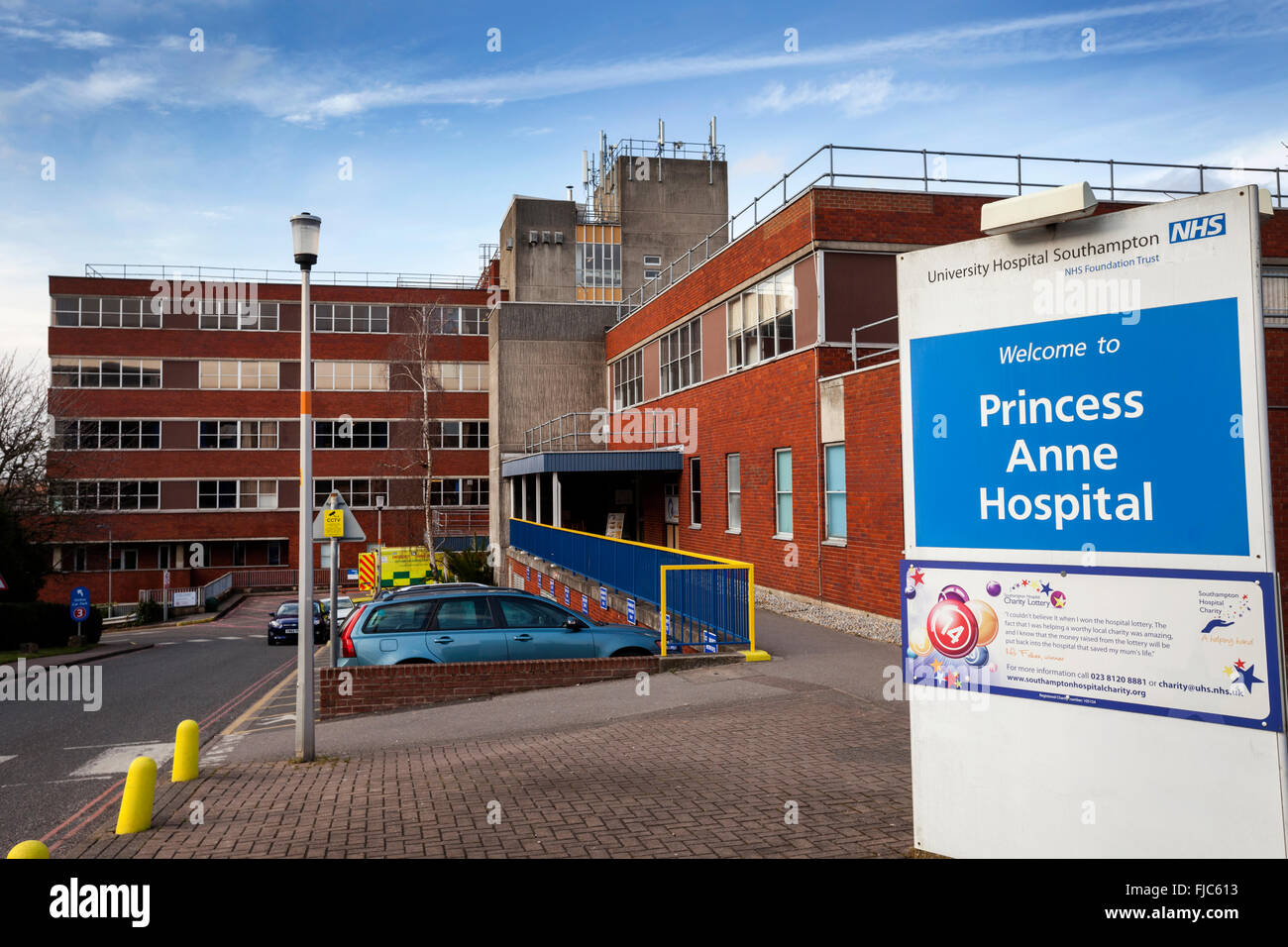 La princesse Anne Hospital à Southampton, Hampshire, Royaume-Uni Photo Stock