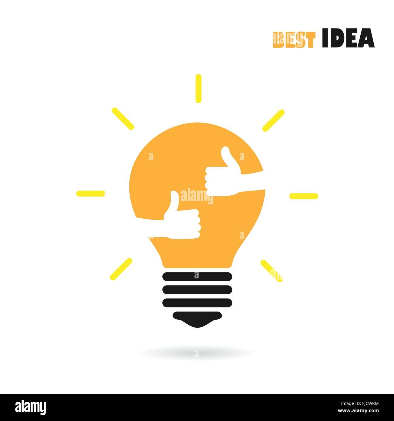 l 39 ampoule du feu de la cr ation logo design vector mod le avec petite id e bonne. Black Bedroom Furniture Sets. Home Design Ideas