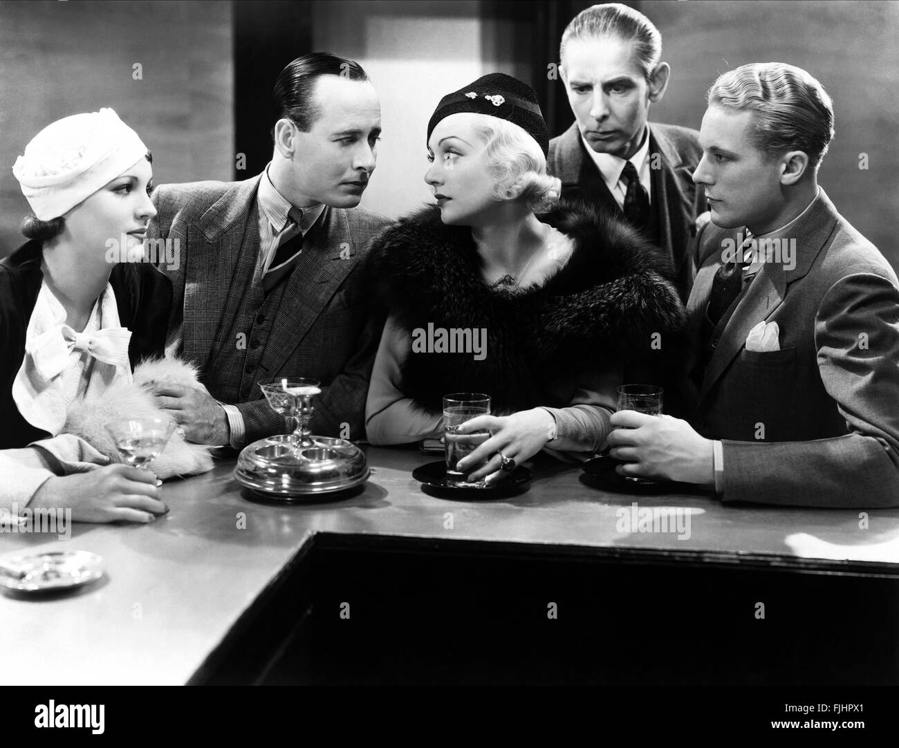 IRENE WARE, DONALD COOK, Carole Lombard, GENE RAYMOND, bref moment, 1933 Banque D'Images