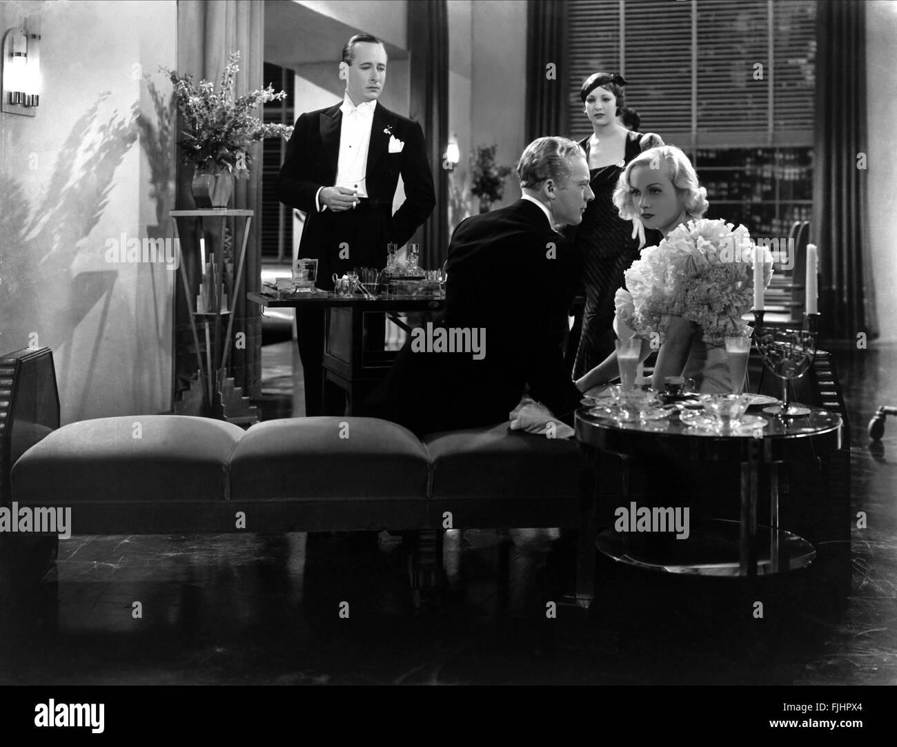 DONALD COOK, GENE RAYMOND, IRENE WARE, Carole Lombard, bref moment, 1933 Banque D'Images