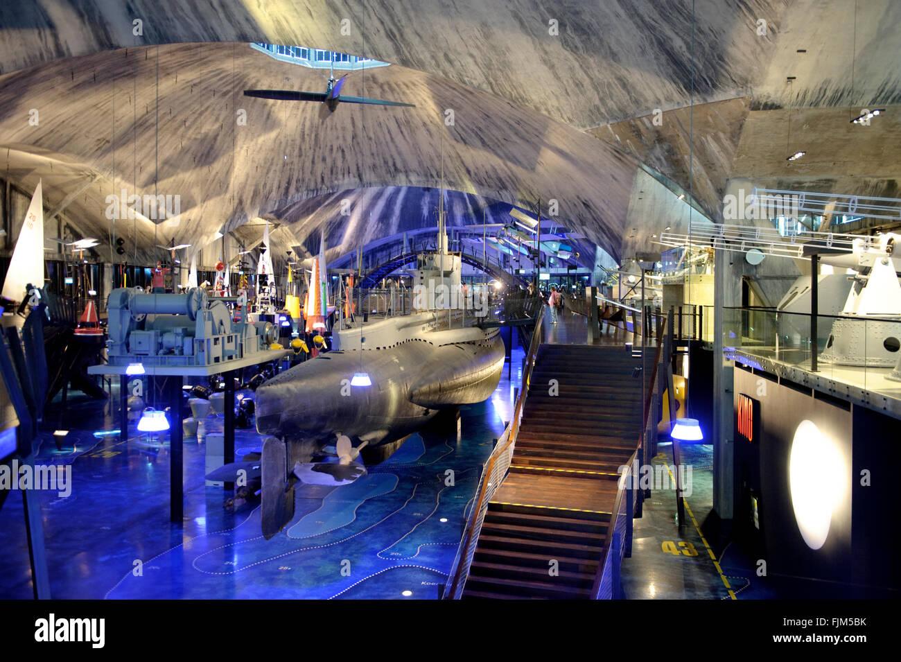 Géographie / billet, l'Estonie, Tallinn, museum / musées, musée maritime, vue de l'intérieur, Photo Stock