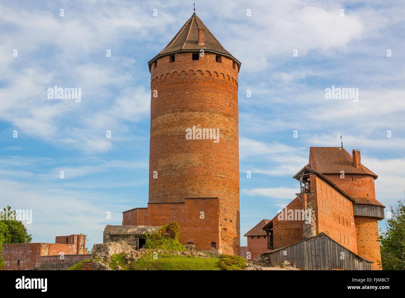 Géographie / billet, de la Lettonie, Riga, Turaida Castle, Additional-Rights Clearance-Info-Not-Available- Photo Stock