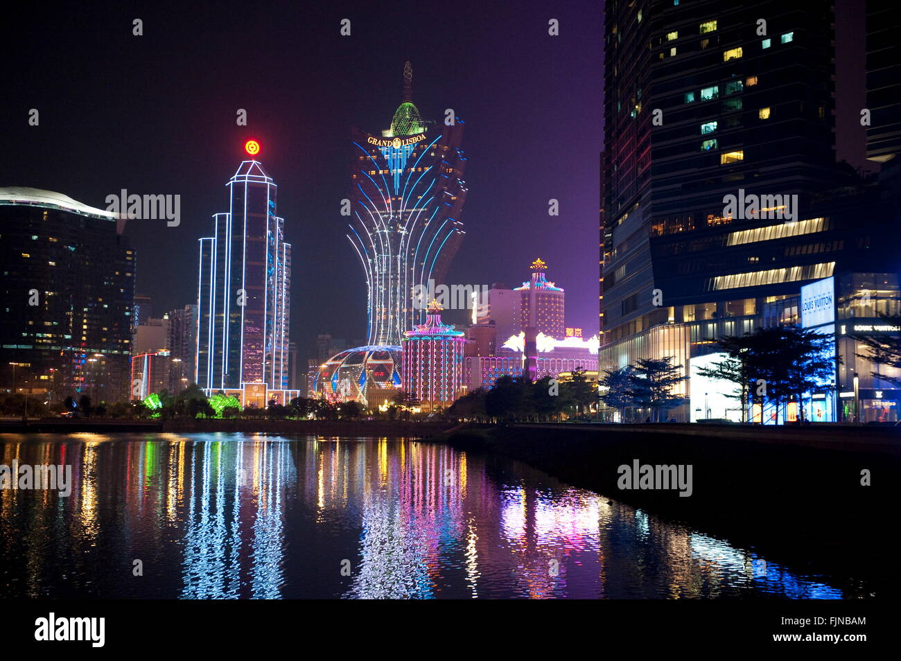 Géographie / voyages, Chine, Macao, casino, Grand Lisboa, Additional-Rights Clearance-Info-Not-Available- Photo Stock