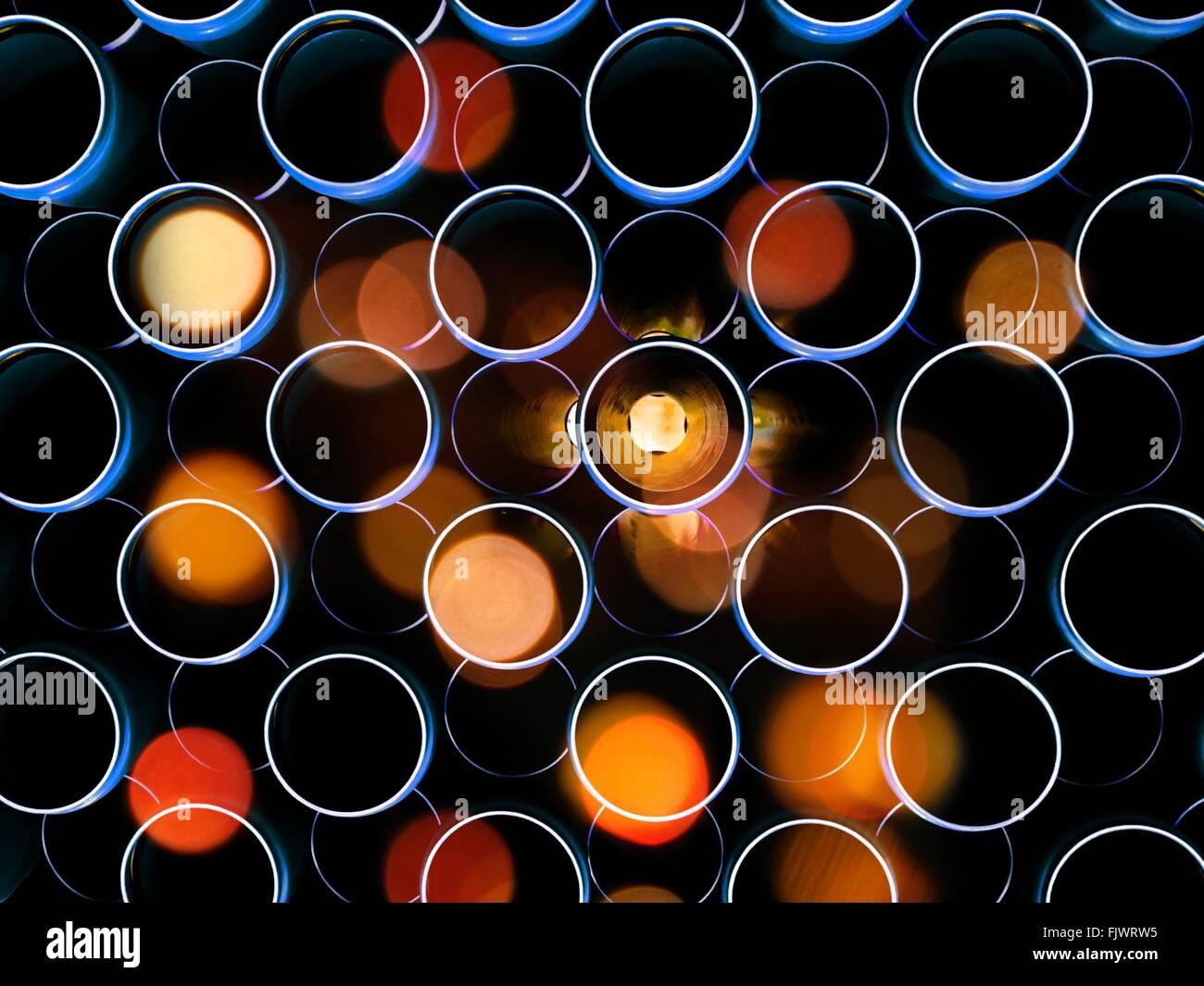 Full Frame Shot de feux de flou artistique Photo Stock