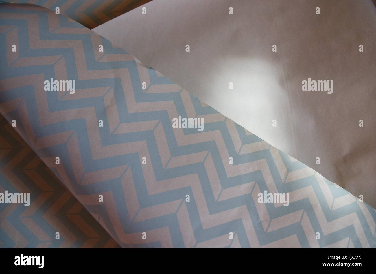 High Angle View Of Wrapping Paper Photo Stock