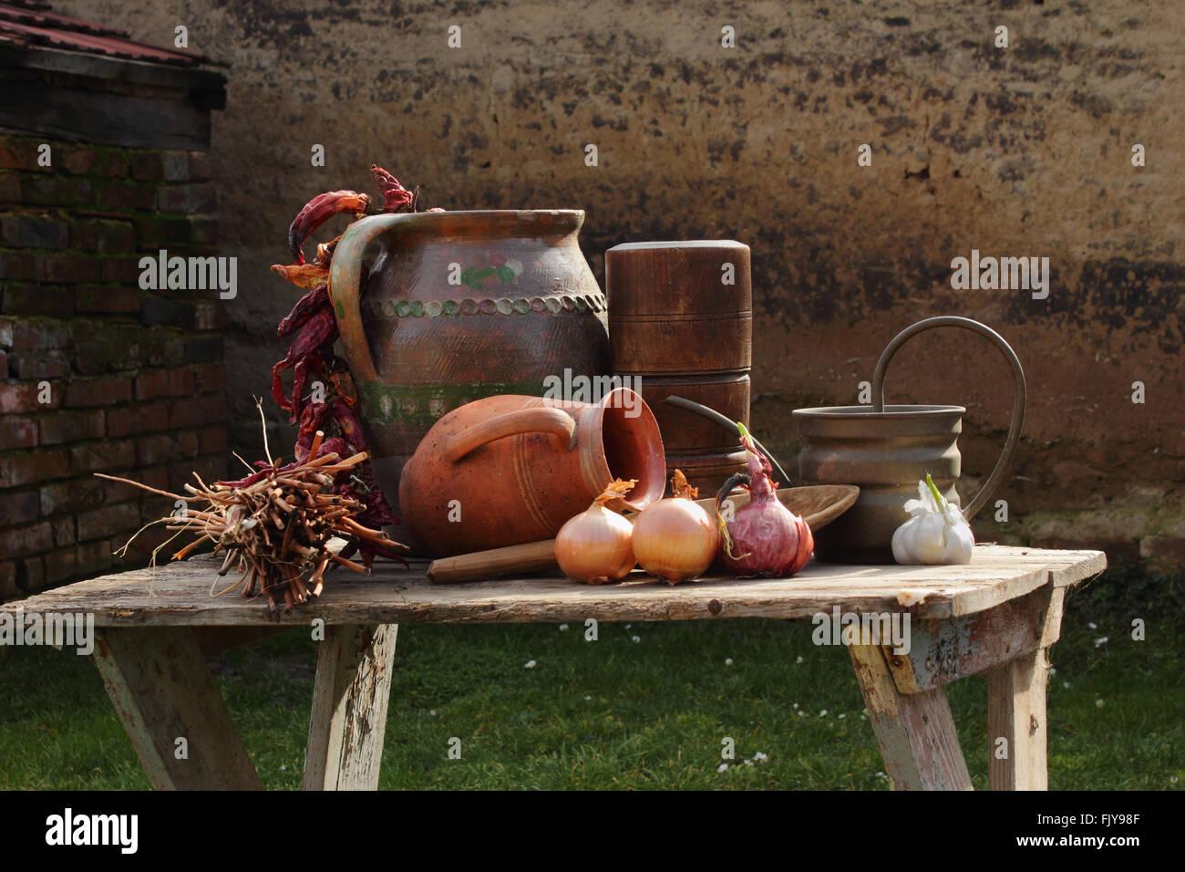 Cuisine d'autrefois Photo Stock