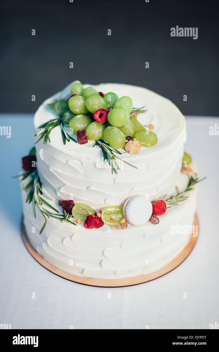Gâteau aux fruits Photo Stock
