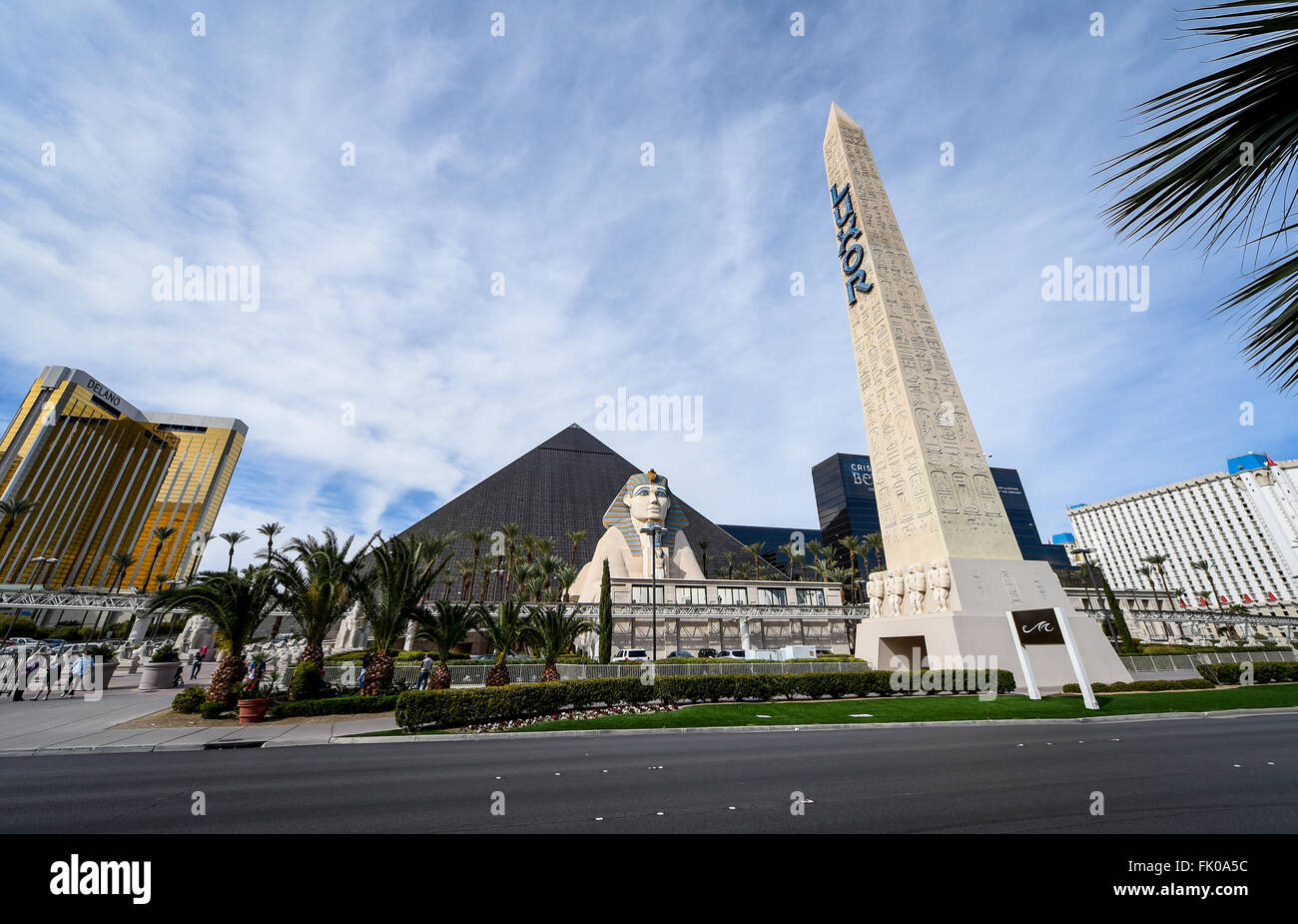 Luxor Hotel & Casino, Las Vegas Photo Stock