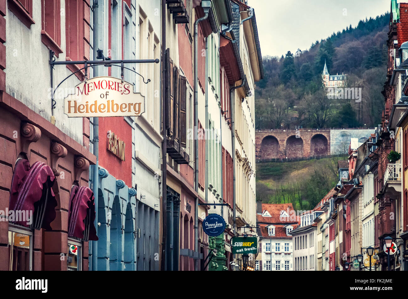 Souvenirs de Heidelberg Banque D'Images