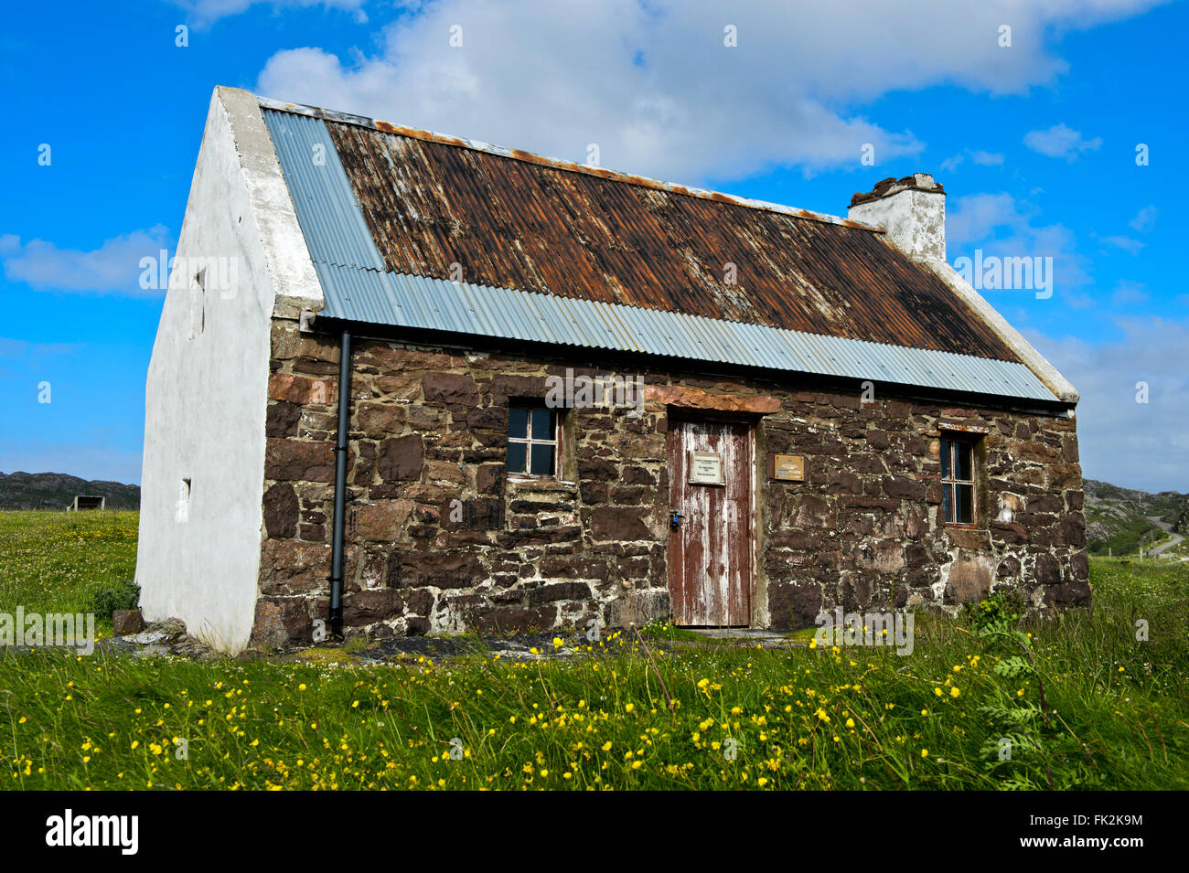 Clachtoll Bothy, Saumon, Clachtoll Assynt, Ecosse, Royaume-Uni Photo Stock