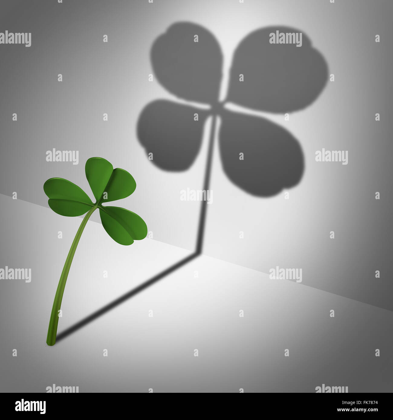 Pensez positif en tant qu'optimiste motvational concept et Feeling Lucky et la pensée positive et la confiance Photo Stock