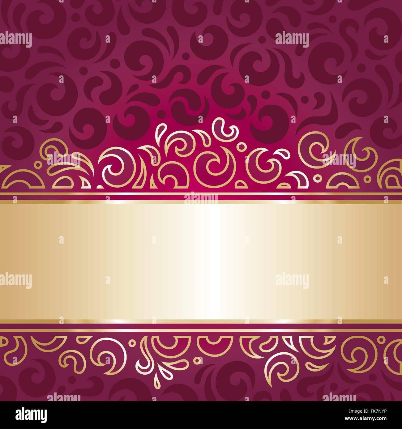 Royal De Luxe Rouge Et Or Invitation Design Decoratif Papier Peint