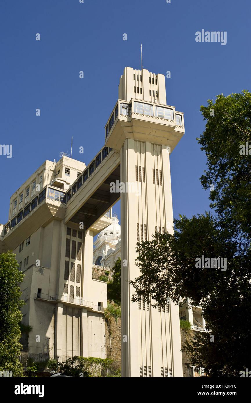 Vu de l'ascenseur Lacerda - Modèle de marché ouvert en 1930 Photo Stock