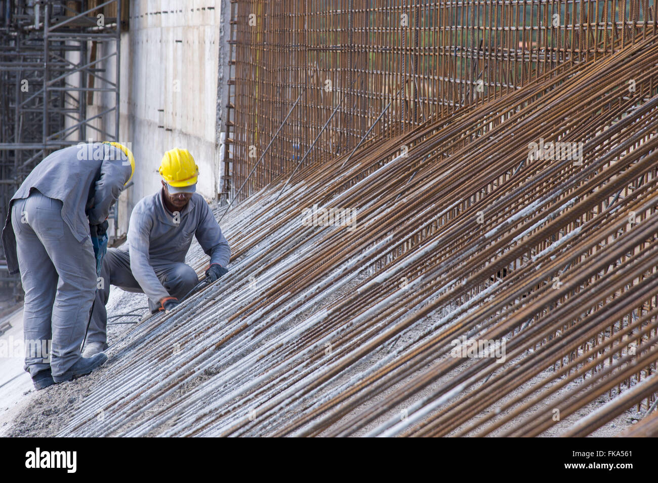 Détail de matériel d'aqueduc Mari travail - Transposition de la rivière San Francisco Photo Stock