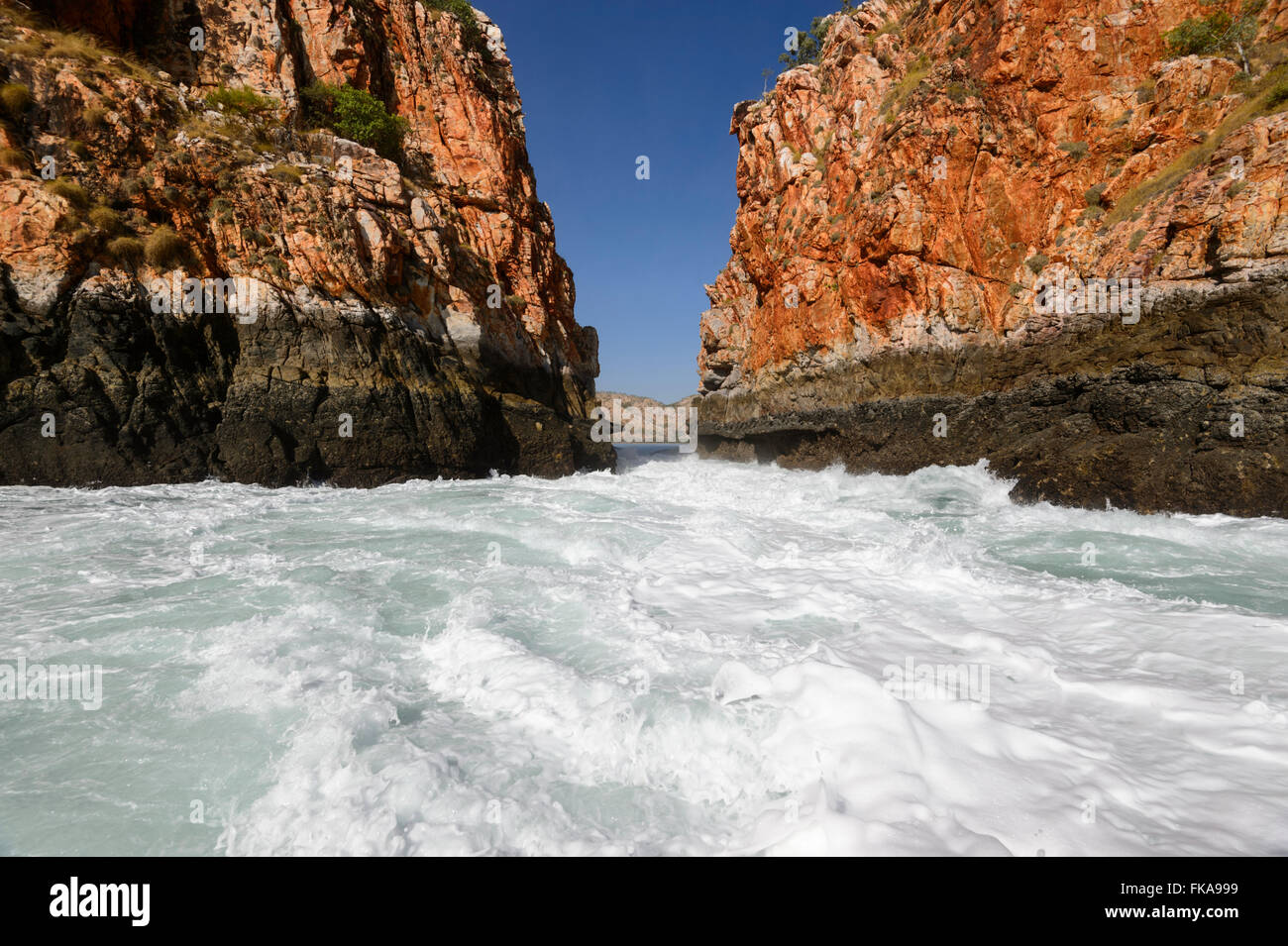 Chutes horizontales, région de Kimberley, Australie occidentale Photo Stock
