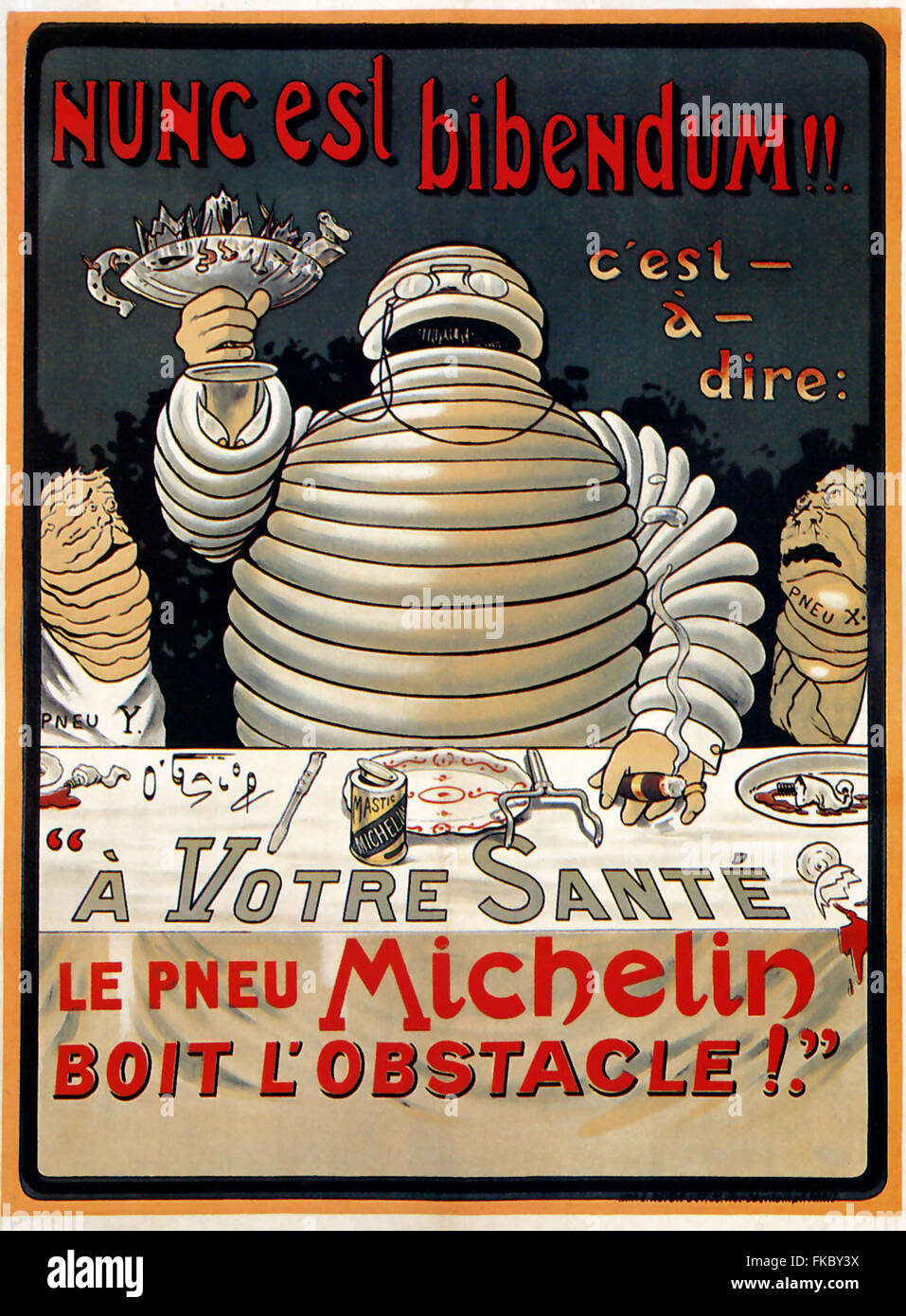 La France affiche de Michelin Photo Stock