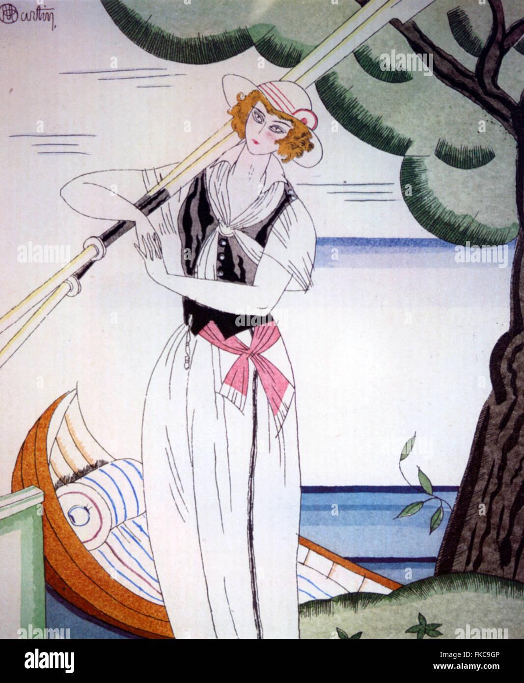 Années 1910 en France et les modes Manieres Plaque Livre Photo Stock