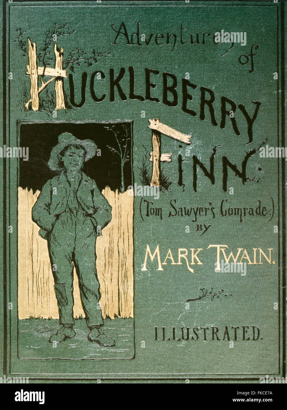 1880 USA Aventures de Huckleberry Finn Book Cover Photo Stock