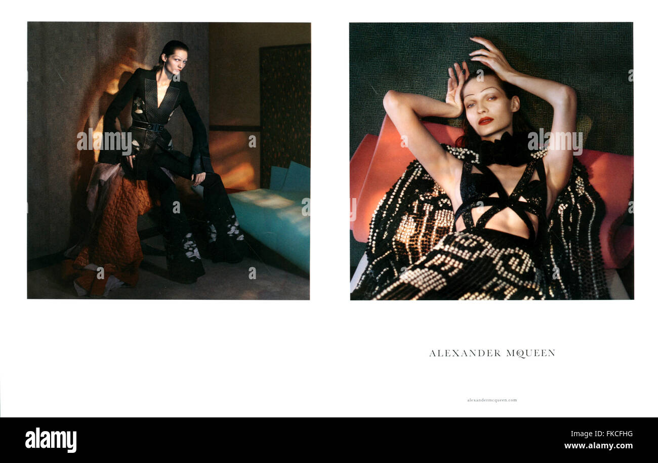 2010s UK Alexander McQueen Annonce magazine Photo Stock