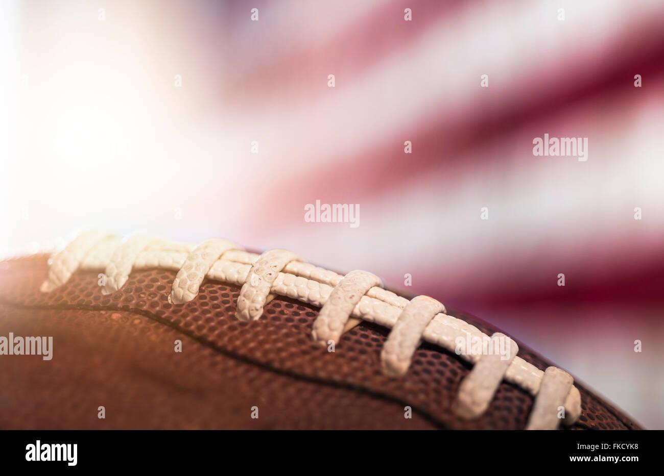 Close-up du football américain Photo Stock