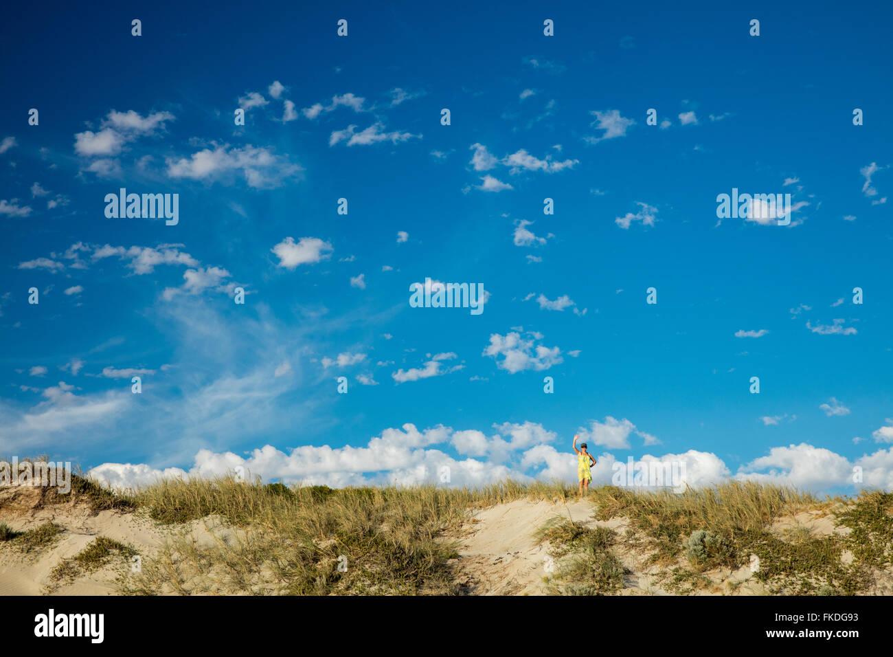 Wendy sur la plage de Port Gregory, l'ouest de l'Australie Photo Stock