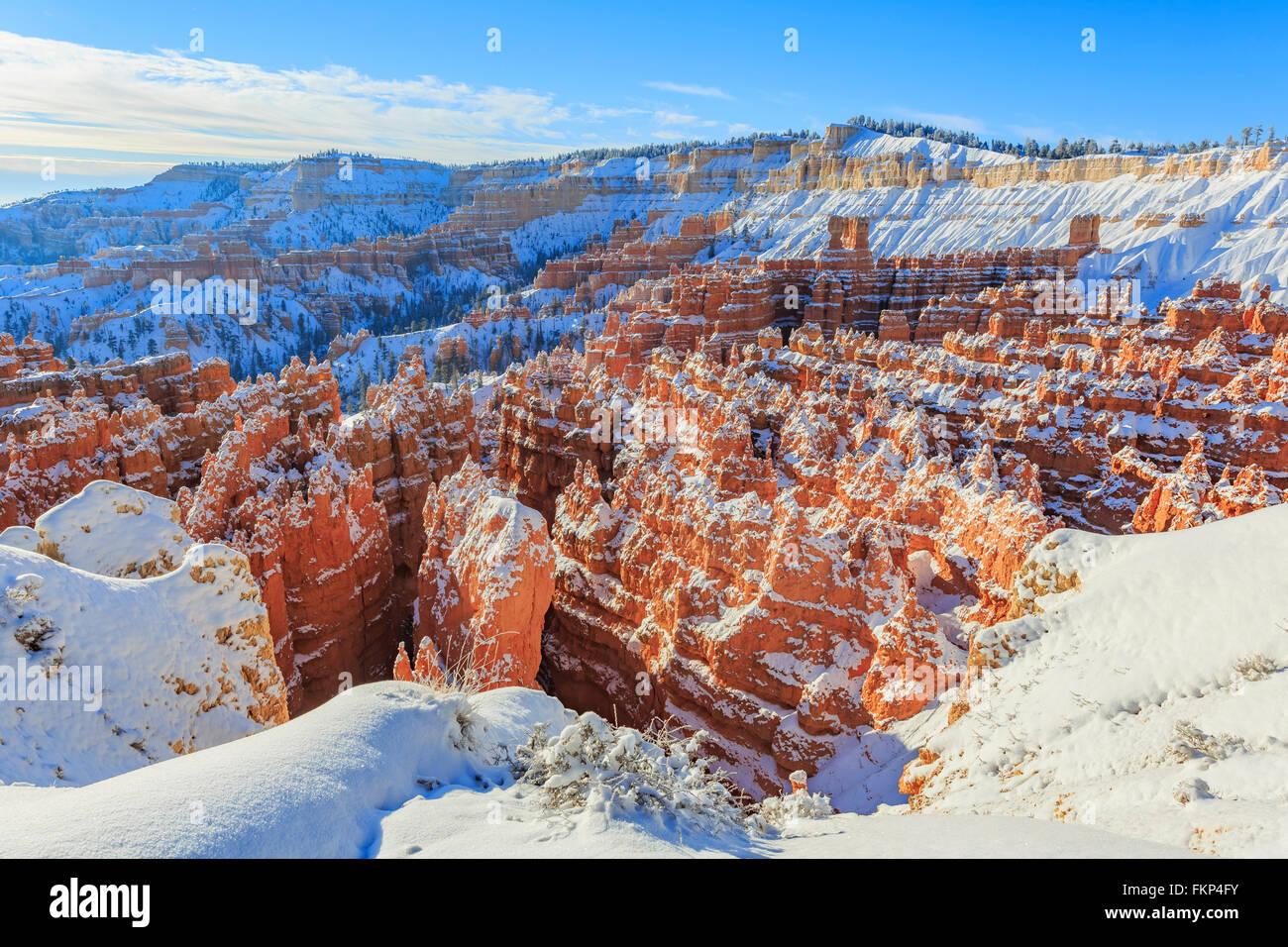 Vue superbe de Sunset Point, parc National de Bryce Canyon à l'Utah Photo Stock