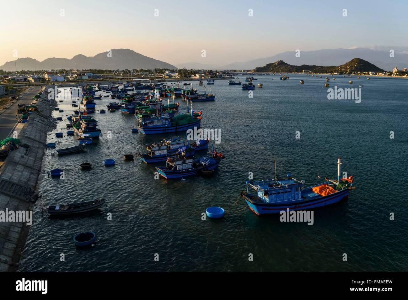 Vietnam, Ninh Thuan province, Phan Rang, le port de pêche Photo Stock