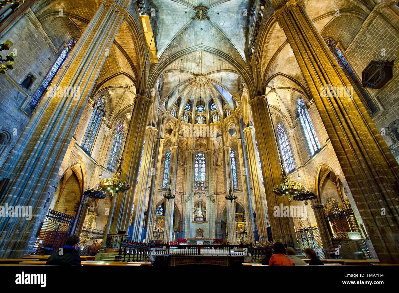 Espagne, Catalogne, Barcelone, la cathédrale de Barcelone Photo Stock