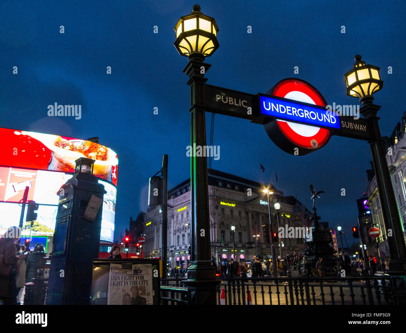 La station de métro Piccadilly Photo Stock