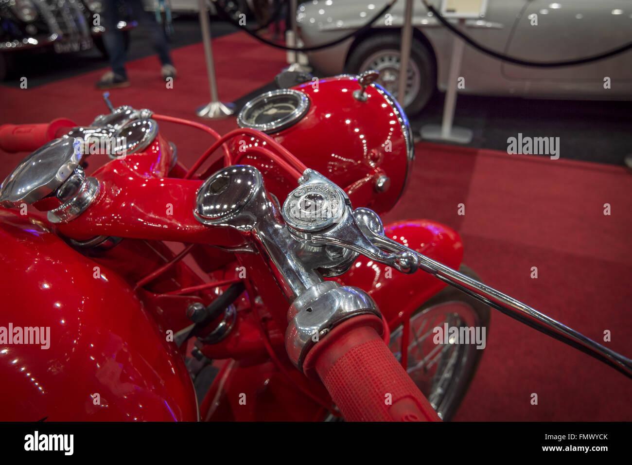 Détail de MV Agusta moto rétro. Banque D'Images