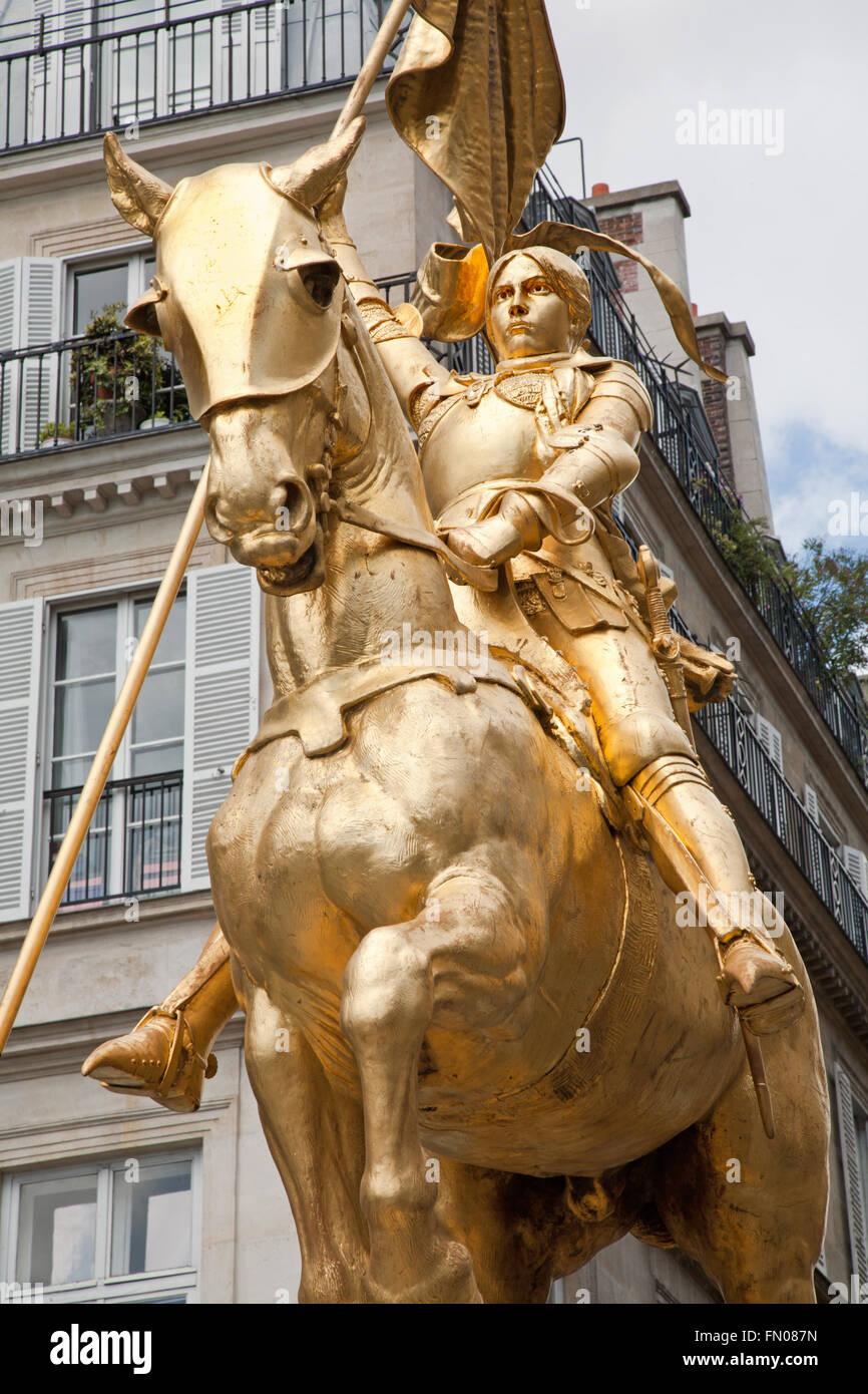 Gravure 1874 Jeanne D/'Arc statue de Fremiet