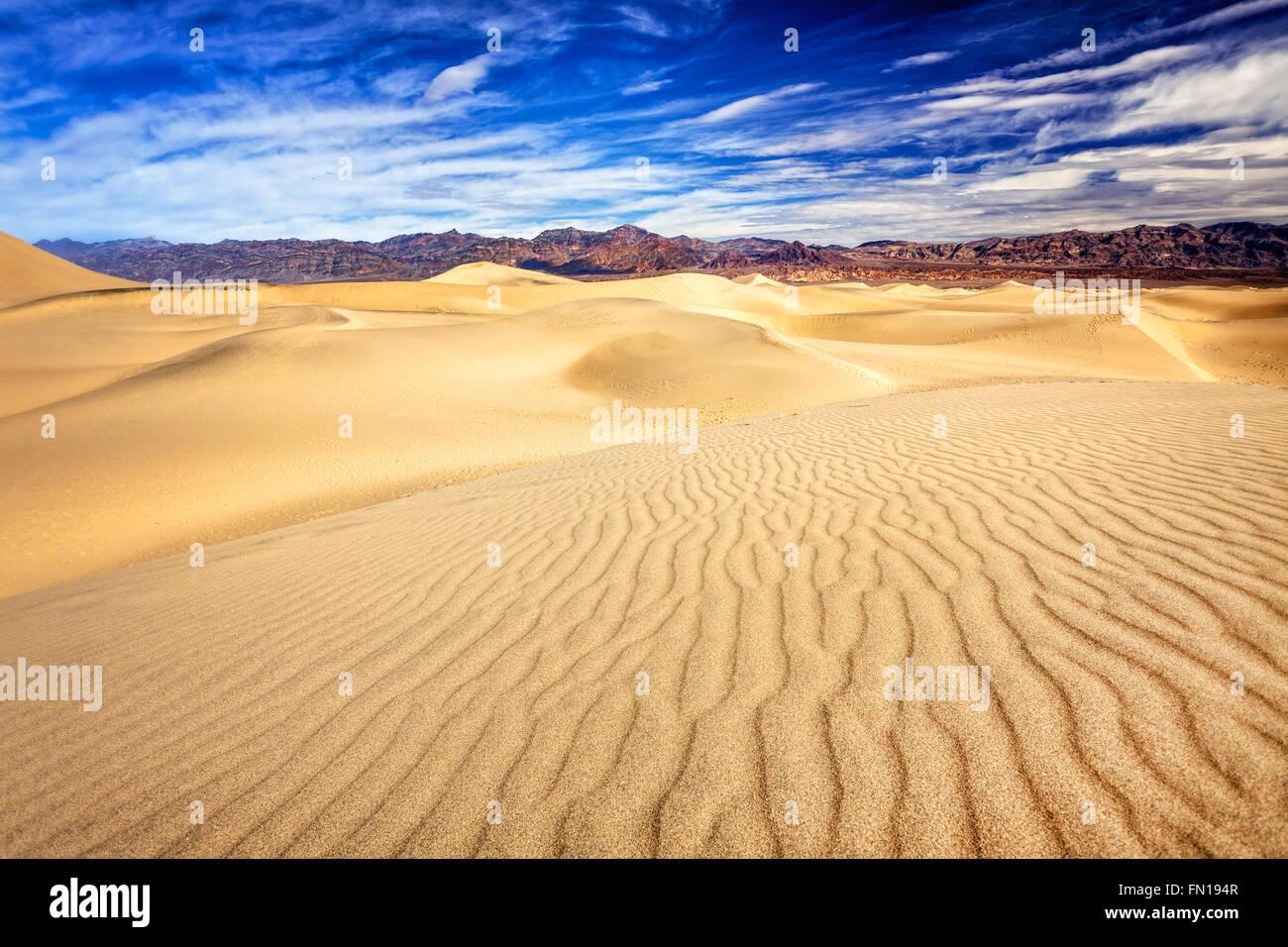 La télévision mesquite sand dunes in Death Valley National Park Banque D'Images