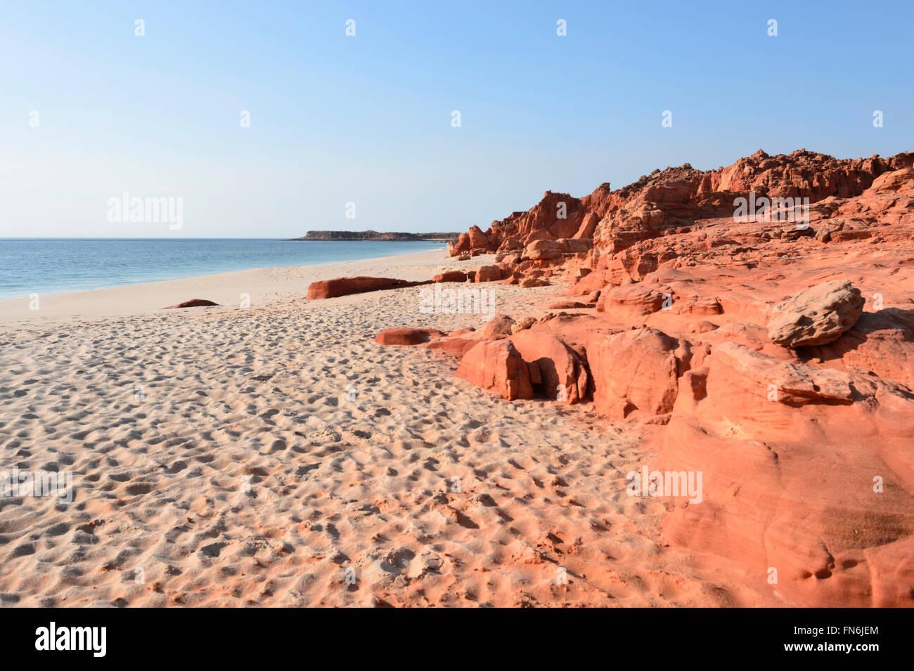 Pindan falaises, Cape Leveque, péninsule Dampier, région de Kimberley, en Australie occidentale, WA, Australia Banque D'Images