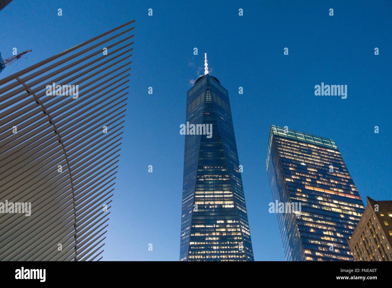 World Trade Center NYC une liberté 1 top Photo Stock