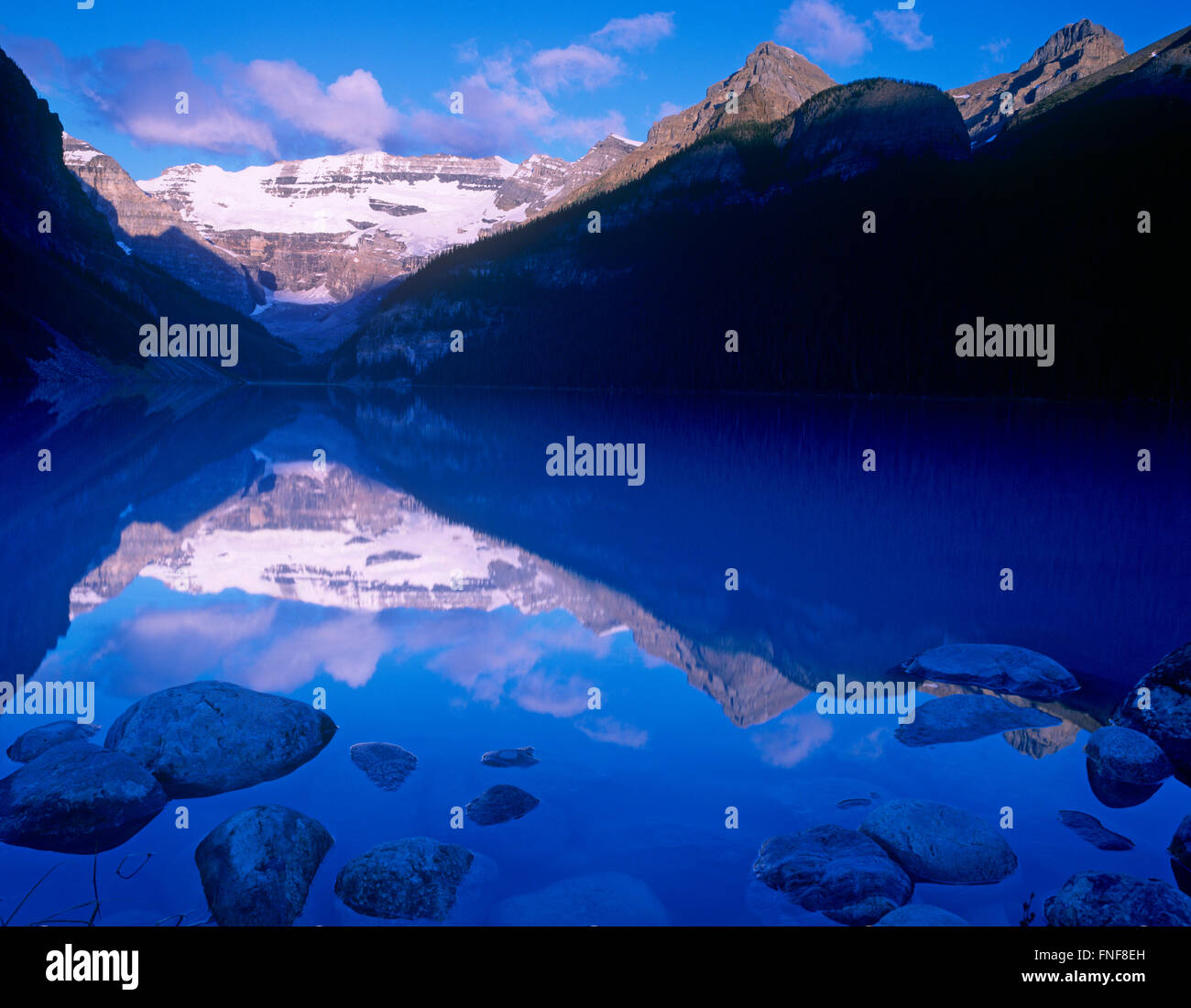 Lake Louise, Banff National Park, Alberta, Canada Photo Stock